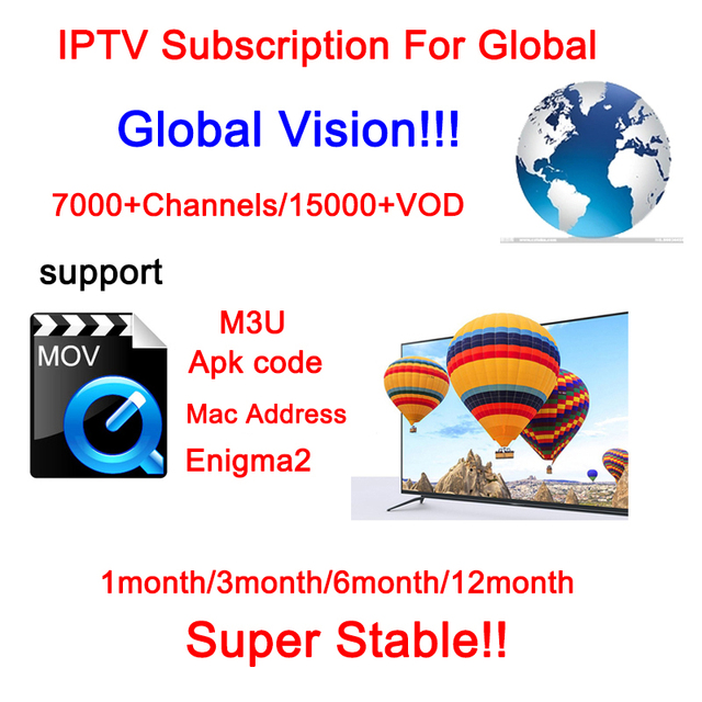 US $3 93 31% OFF|IPTV Subscription For Global All Country Smart Tv Box  7000+ Channels 15000+VOD Smarter Apk M3U Address Enigma2 Tv Box-in Set-top