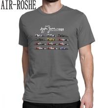 b933e03669ce6 Hombre All The Cars Ayton Senna Fórmula 1 Racing Car F1 Camiseta cuello  redondo manga corta