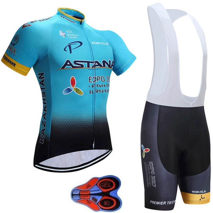 2019 TEAM Astana Cycling JERSEY set Quick Dry Mens Breathable Bicycle clothing summer pro Cycling wear MTB Cycle Clothes 9D GEL2019 TEAM Astana Cycling JERSEY set Quick Dry Mens Breathable Bicycle clothing summer pro Cycling wear MTB Cycle Clothes 9D GEL