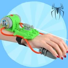 5 м стрельба диапазон мини наручные Водяные Пистолеты игрушки Летний пляж Человек Паук Стиль водные развлечения наручные бластеры игрушки для бассейнов вечерние Приморский
