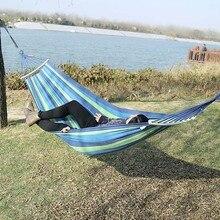 Outdoor Möbel Leinwand Stoff Doppel Holz Spreader Bar Stick Hängematte Zelt Outdoor Camping Schaukel Hängen Zwei person Hängematte Bett