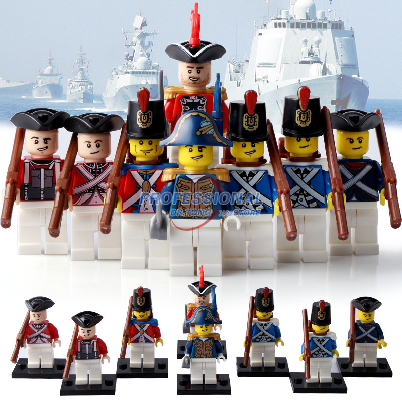 8PCS/Lot  PG8035 Imperial Royal Guards With Gun Figures Assemble Building Blocks Toys for children Gift Action Figures PG8035 royal apothic гель для душа imperial vanilla 240ml