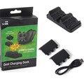 Двойной зарядки для док-контроллер зарядное устройство + 2x аккумуляторных батарей для XBOX ONE аккумуляторная батарея лучшее двойной зарядки док