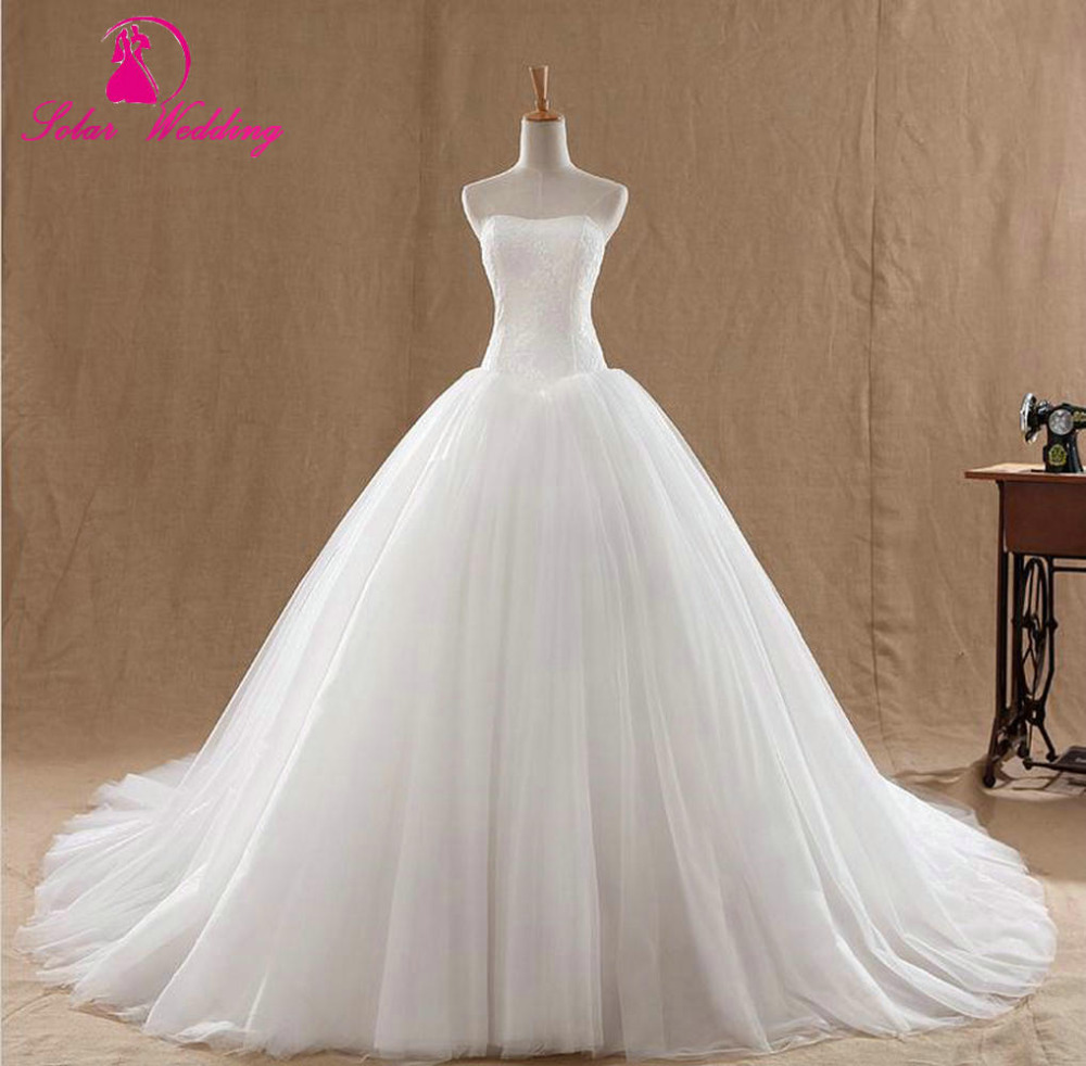 Real Photo Vestidos De Novia Wedding Gown Elegant Women Bridal Puffy Robe Mariage Dresses 2016in From Weddings Events On: Elegant Strapless Wedding Dresses Puffy At Websimilar.org