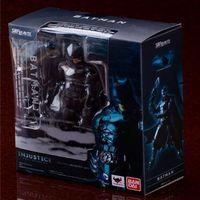 Batman SHF INJustice League Batman Mobile Action Figure Toys The Dark Knight Rises Batman Collectible Model