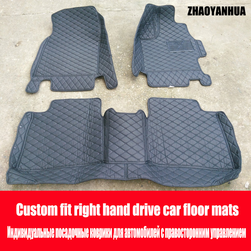 ZHAOYANHUA Right hand drive car car floor mats for BMW 3/4/5/6/7 Series GT M3 X1 X3 X4 X5 X6 6D car-styling all weather carpet fZHAOYANHUA Right hand drive car car floor mats for BMW 3/4/5/6/7 Series GT M3 X1 X3 X4 X5 X6 6D car-styling all weather carpet f