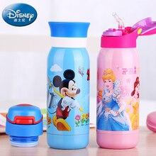 GX-5715 350 ml Termo Taza de Mickey Mouse Del Bebé Niños Termo Taza con Paja Bebida Aislado Botella de Agua Frasco De Vacío Del Vaso 2 tapa