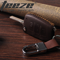 Leather key case for car suitable for Audi car accessories fashion key cover key holder with key chain handmade sewing