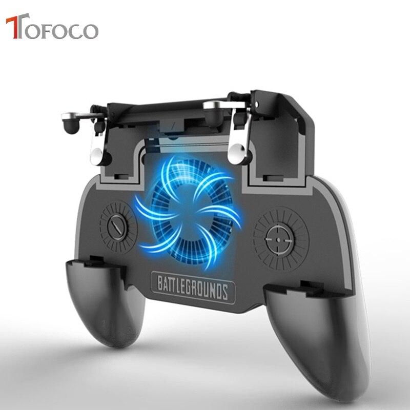 SR Pubg Controller Gamepad Pubg Mobile Trigger L1R1 Shooter Joystick Spiel Pad Telefon Halter Kühler Fan mit 2000 mAh Power bank