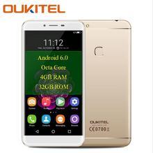 OUKITEL U15 4G Smartphone Android 6.0 MTK6750T Octa-Core 4 GB + 32 GB 16.0MP + 8.0MP D'empreintes Digitales 5.5 pouces IPS 1080 P FHD Mobile Téléphone