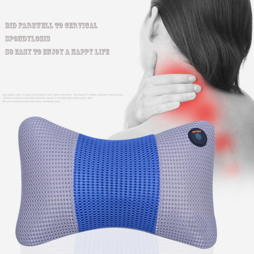 ФОТО Home car dual-use multifunction dish massager car massage pillow cervical lumbar leg massager Infrared Heating body massager