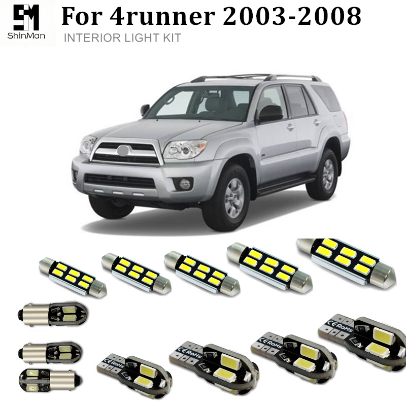 Shinman 19X Error Free Car LED Bright Vehicle Interior Map Dome Door Lights Kit Package for <font><b>toyota</b></font> <font><b>4runner</b></font> 2003-2008 image
