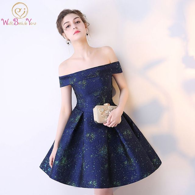 Short Prom Dress Ball Gown Lace Off the Shoulder Cheap Party Gown Colorful  Navy Blue Prom Dresses 2018 African Dresses for Women 2fdd8978bb66