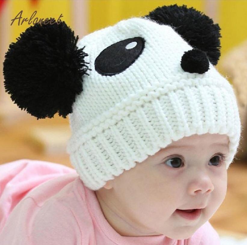 ARLONEET Baby Kids 1PC Fashion Cute Baby Kids Girls Boys Stretchy Warm Winter Panda Cap Hat Beanie Dropshipping Fre22