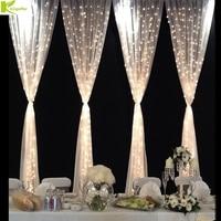 Fairy string icicle led curtain lights 6mx3m 600 bulbs Outdoor Home Xmas Christmas Wedding new year garden party decoration 220V
