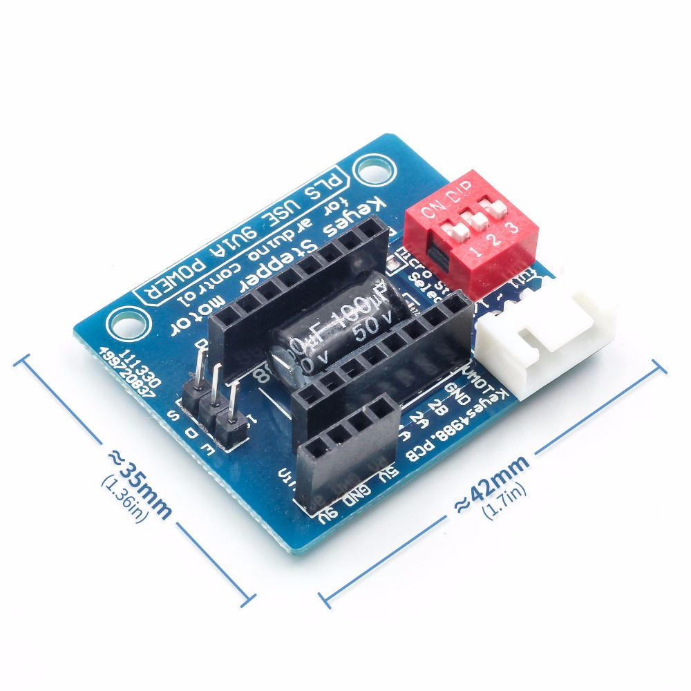 1Pcs A4988 DRV8825 Stepper Motor Driver Control Panel Board Expansion Board Module V1.1 Active Component For 3D Printer ...