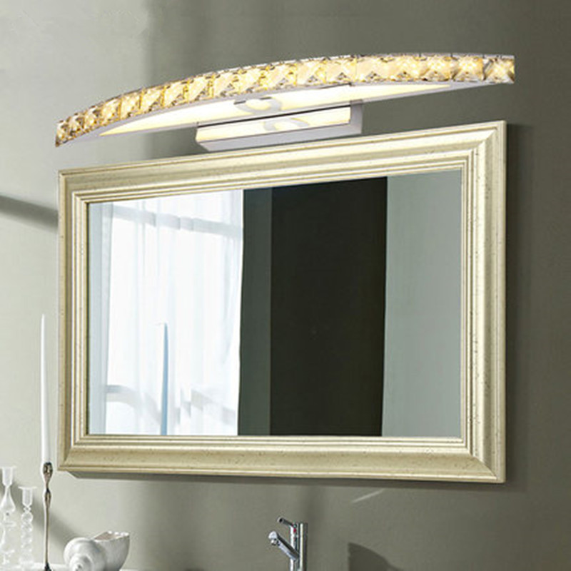 Luxury Crystal Led Mirror Front Light 10w 15w Ac110 220v Bathroom Waterproof Anti Fog Led Vanity