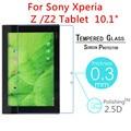 """5 unids Z Z2 9 H A Prueba de Explosiones Templado Vidrio Templado Para El Sony Xperia Z Z2 Tablet 10.1 """"PC de la tableta de Clear Protector de Pantalla de Cine"""