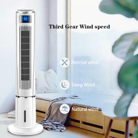 Ventilador de ar condicionado casa ventilador de ar condicionado mudo ventilador de piso de controle remoto ventilador sem folhas