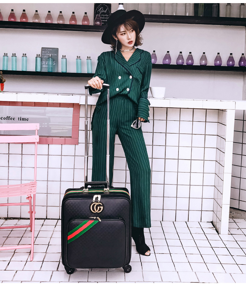 CARRYLOVE ashion luggage series 16/20/24 inch Classic PU Rolling Luggage Spinner brand Travel Suitcase vintage suitcase 20 26 pu leather travel suitcase scratch resistant rolling luggage bags suitcase with tsa lock