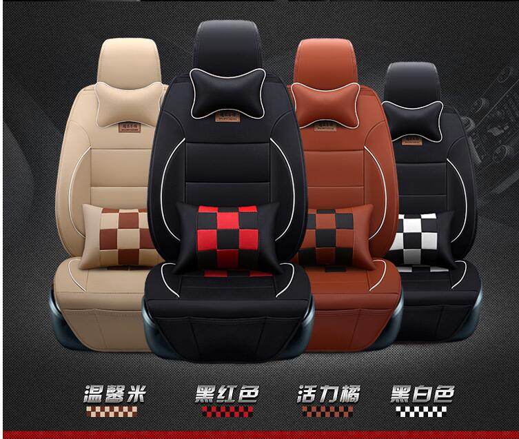 EMS hot sales Luxury Leather PU leather Car Seat Covers 5 Seat Cover For Volkswag Touareg Specia sagitar bora jetta golf ...
