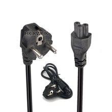 Cable de alimentación europeo para portátil, 3 clavijas, 2 pines, CA, para Asus, HP, Sony, Dell, Lenovo, Acer, Sumsung, Toshiba, Fujitsu, Notebook, cargador