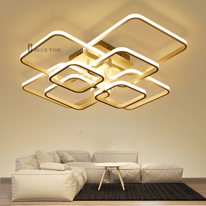 HTB1KLLtezgy uJjSZSgq6zz0XXa2 Modern LED Ceiling Light Black&White Chandeliers Ceiling Lamp LED Light Fixtures Living room Bedroom Dining room Kitchen Lustres