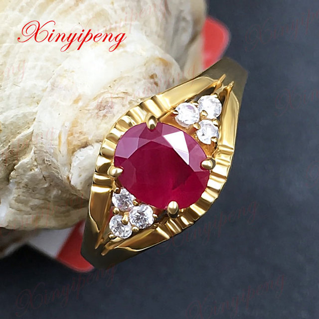 18 k gold, platinum natural ruby ring women give valuable color more than 1 carat gem The real thing to send mother 1