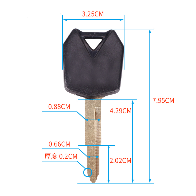 Motorcycle Keys Blank Key Uncut Blade For Kawasaki NINJA250 ZX250R EX250 NINJA300 ZX300R EX300 NINJA 250 300 R NINJA250R S