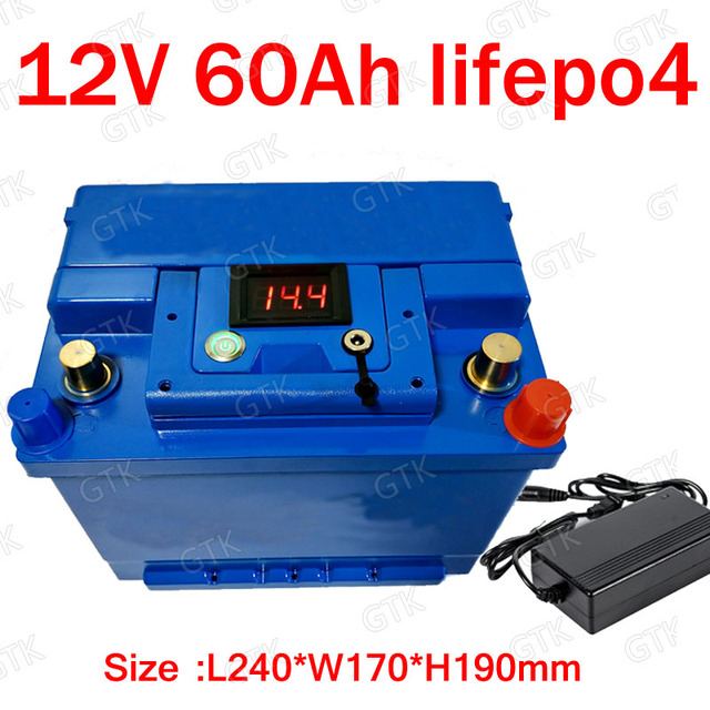 GTK Lithium 12V 60AH Lifepo4 Battery BMS 4S 126V For 900W Solar Energy Storage