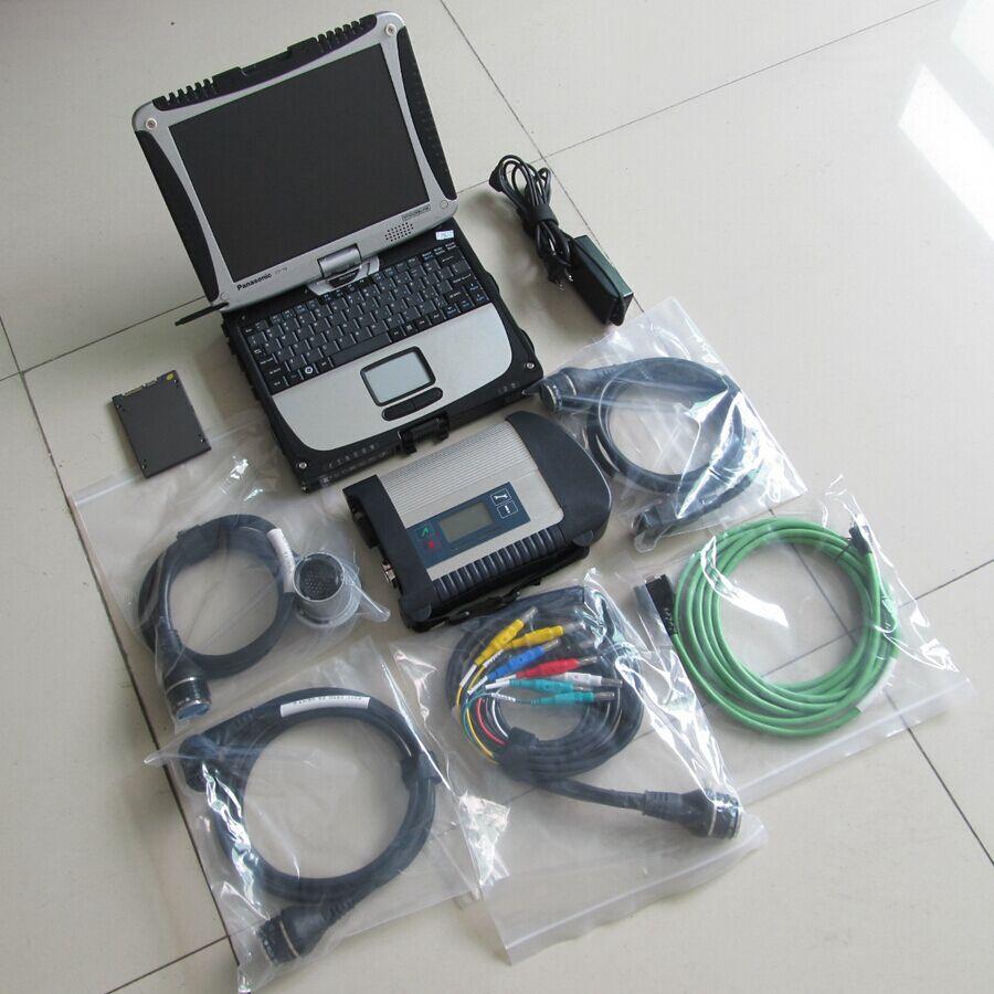 Pour MB Scanner de Diagnostic mb star c4 ssd logiciel avec ordinateur portable CF-19 de livre dur avec MB Star C4 Sd Connect améliorer l'efficacité du travail