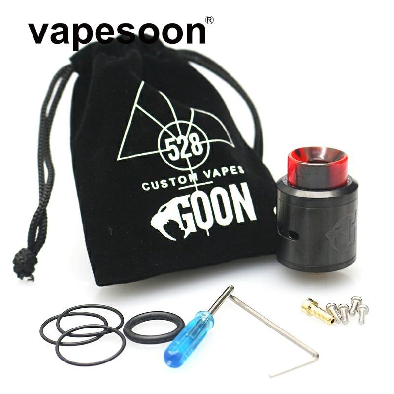 Personalizzato Goon Vapes 528 RDA V1.5 24 MM Atomizzatore Vaporizzatore Bobina FAI DA TE 810 Drip Tip per 510 e-Sigaretta Mod