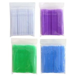 100pcs/bag Disposable Makeup Cotton Swabs Eyelash Extension Mini Individual Applicators Home Mascara Brush Cotton Soft Swab
