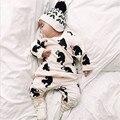 new arrive kids super soft comfortable clothing sets 2017 fashion animal print pure cotton clothing sets 2pcs/set
