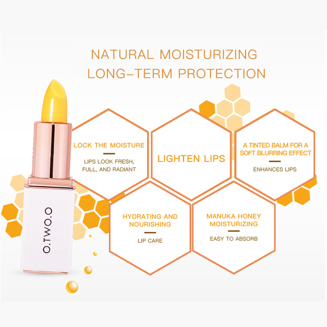 O.TWO.O Colors Ever-changing Lip Balm Lipstick Long Lasting Hygienic Moisturizing Lipstick Anti Aging Makeup Lip Care 3