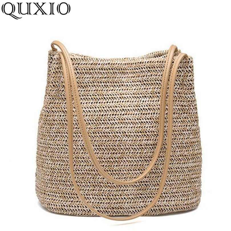 308f8dd15a92 2018 в Южной Корее новая соломенная сумка Повседневное сумки летние  каникулы сумка женская плетеная корзина пляжные