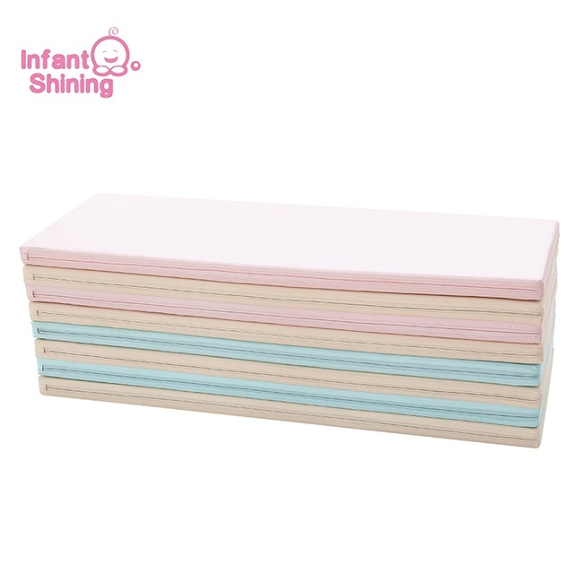 40mm PU Thicker version Infant Shining Baby Play Mat 120*160cm Large Playmat 4-fold Play Mat Waterproof Multifunction Pad Game Other Infant Toys