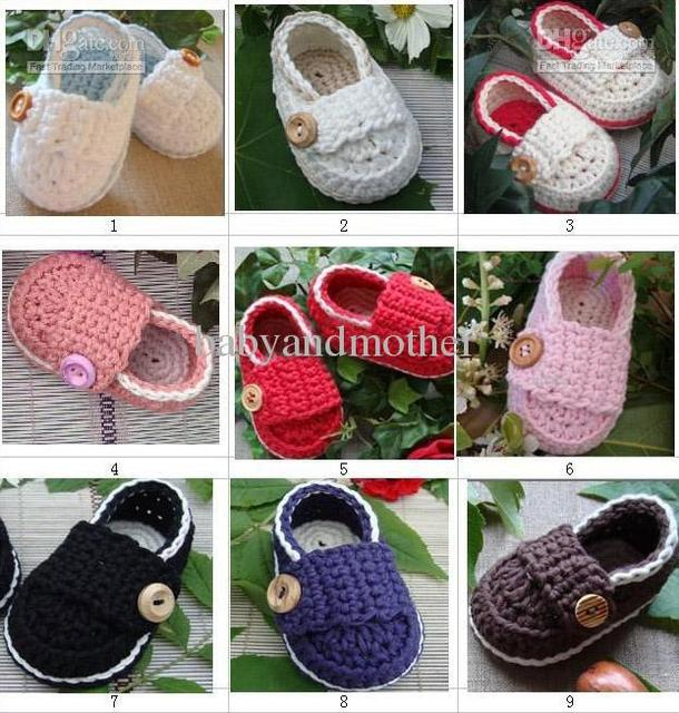 Baby Crochet Shoes Boys Booties Baby Girls Loafers Infant Handmade