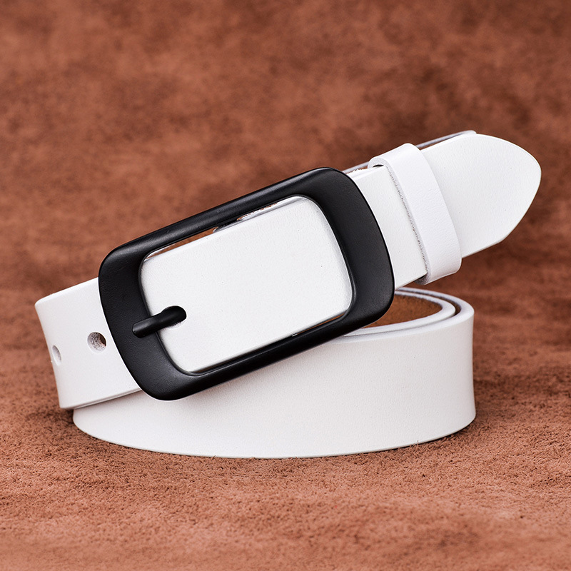 Hot Sale 2019 Female Belt Genuine Leather Women Belt Pin Buckle Fashion Cowskin Leather Strap Belt Width 2 8 cm ceinture femme in Women 39 s Belts from Apparel Accessories