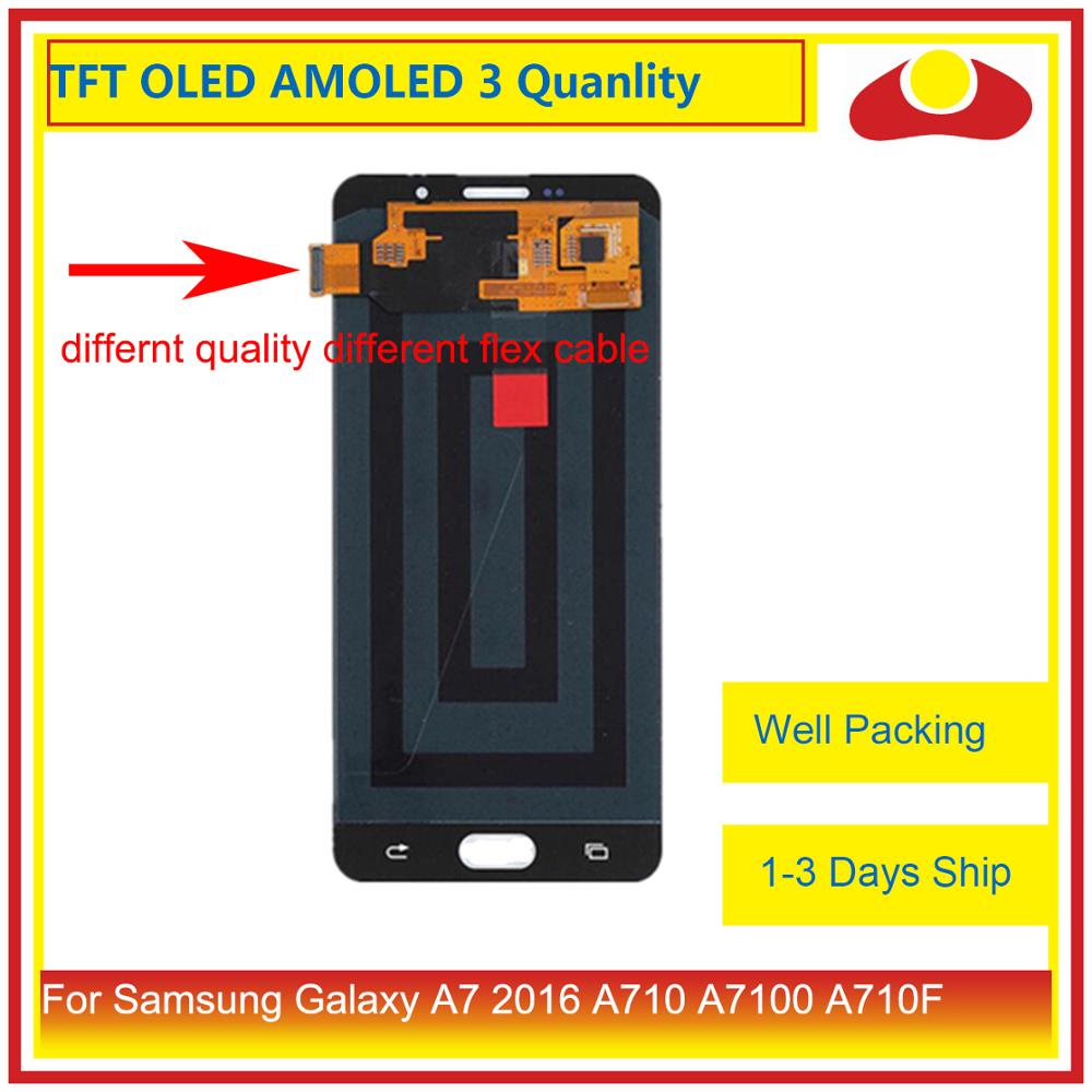 Image 2 - ORIGINAL For Samsung Galaxy A7 2016 A710 A7100 A710F LCD Display With Touch Screen Digitizer Panel Monitor Assembly Complete-in Mobile Phone LCD Screens from Cellphones & Telecommunications
