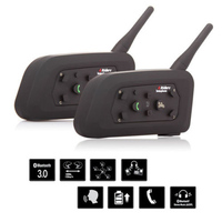 2PCS 1200M Motorcycle Bluetooth Helmet Intercom For 6 Riders BT Wireless In Driver Free Shipping