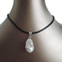 Ожерелье с подвеской из 100% натурального пресноводного жемчуга