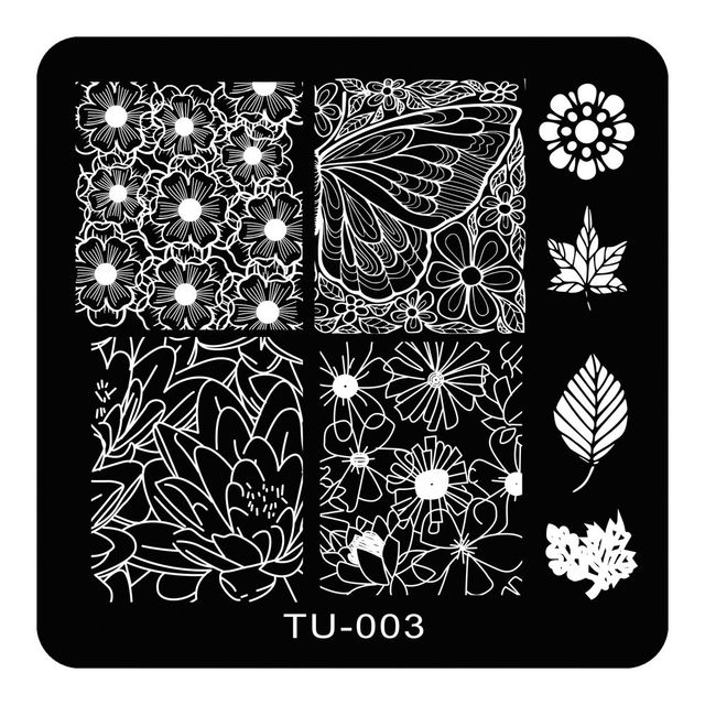 Stainless Steel Small Nail Art Stamping Image Stamp Plate Polish Manicure Tools Erfly Wings Leaf