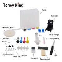 Toney king ciss tanque de tinta para 21 22 xl cartucho de tinta para hp 21 22 para hp21 21xl 22xl deskjet f2180 f2280 f4180 f380 380 impressora