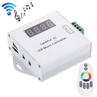 DC5V 24V WS2811 /WS2812B /6812 /1903/6803 Magic LED tape digital colorful music controller with RF touch remote Max 600pixels