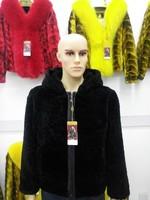 Hooded Duble Faced Fur Men S Clothing Outerwear Sheep Shearing Fur Jacket Overcoat Coat