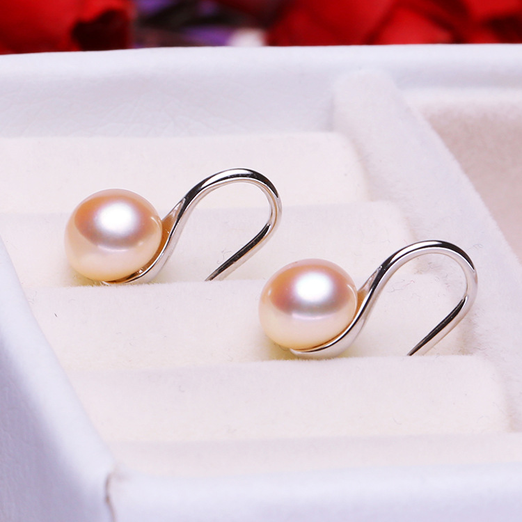 Pearl earrings ladies earrings fashion jewelry baroque pearls with stone spoon shape in Earrings from Jewelry Accessories