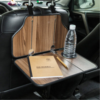 FMS Car Seat Back Wood Table Foldable Hanging Desk with Water Cup Holder Dining Table for Travel Camping Auto Interior Tidying