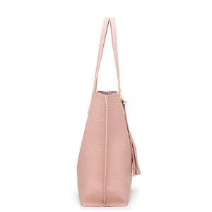 Image 5 - Women Handbag Messenger Shoulder Bags Big Leather Bag Female Black Handbag Lady Tote Crossbody Bag Popular Ladies Hand BagsGift