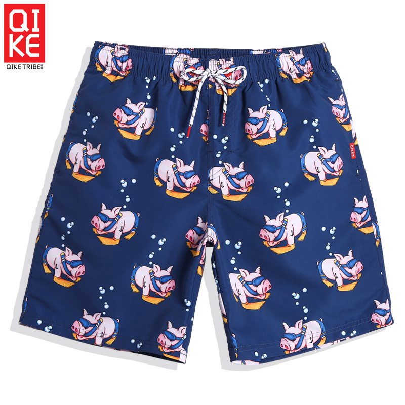 Men's beach   shorts   cartoon bathing suit printed surf swimwear plavky   board     shorts   trunks sexy swimsuit joggers mesh liner